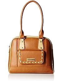 Fantosy Women's Handbag (Tan and Beige) (FNB-436)