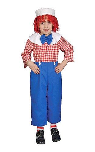 dress up America–282-l–Kostüm Deluxe-verschiedene Motive Junge amerikanischen Rag Boy–12–14Jahre–Größe 127–145cm–weiß (Halloween Ann Kostüm Raggedy)
