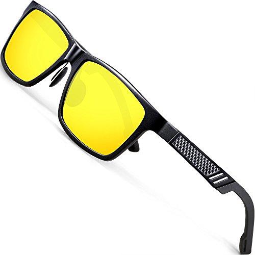 ATTCL Herren Nachtsichtbrille Autofahren Nachtfahrbrille Sonnenbrille Night 6560night