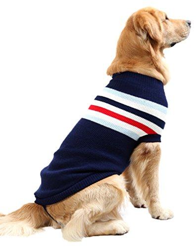 Hundepullover Winter Strickpullover für große Hunde Strickwaren Haustierkleidung Outwear Coat Jacket (Hund Halloween-kostüme Für Den Labrador-retriever)