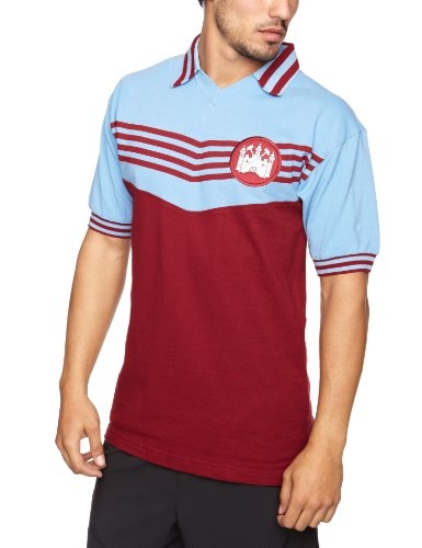 7b2125485 West Ham United 1976 Herren Retro Football Shirt xl Claret Sky
