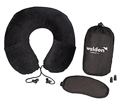 Memory foam travel pillow by Walden Co. | Breathable, compact