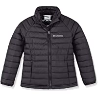 Columbia Powder Lite Girls Jacket Chaqueta con Capucha, Niñas, Negro (Black), XL