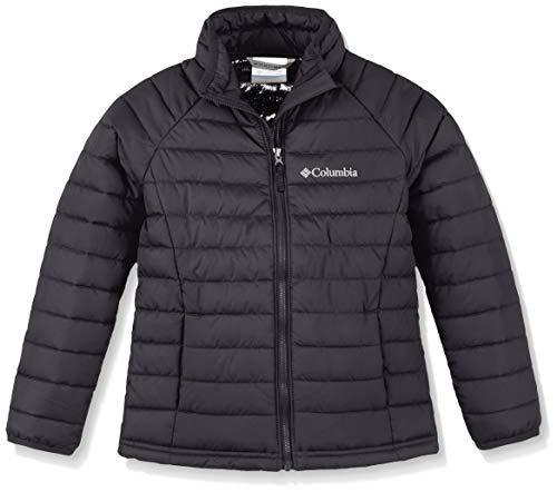 Columbia Jacke für Mädchen, Powder Lite Girls Jacket, Polyester, Schwarz, Gr. S, 1802941