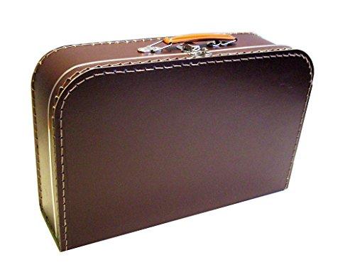 Koffer Pappe, braun, dunkelbraun, groß, 35cm, Pappkoffer