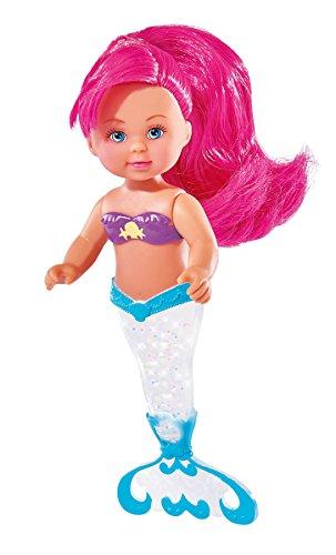 Simba 105738057 Evi Love Sparkle Mermaid, Mehrfarbig (Barbie-wasser-spiel-puppe)