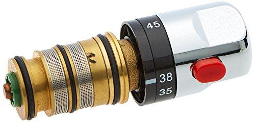 Enki Thermostat-Duschventil, Ersatz-Kartusche für Stangen-Armatur, Chrom, 0025