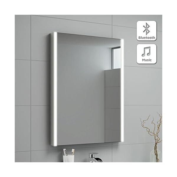 500 x 700 mm Modern Illuminated LED Bathroom Mirror with Bluetooth Speaker MC128 412U6gmVUlL