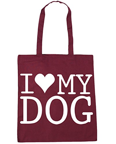 HippoWarehouse ,  Damen Strandtasche Gr. One Size, burgunderfarben (Tote Bag English Springer Spaniel)