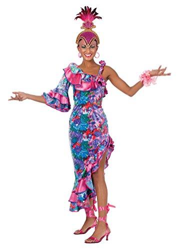 Brasilien Kostüm Tänzerin - Karneval-Klamotten Brasilianerin Kostüm Damen Brasil Kostüm Rio Samba Kleid Brasilien Karibik Karneval Damen-Kostüm Größe 44