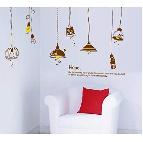 Xqi wangpu 60x90 cm abnehmbare Kunst Vinyl wandaufkleber dekor wandtattoo Cartoon lampen und Laternen Wohnzimmer