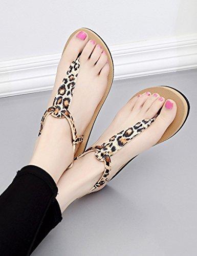 XIA&Sandali Nuove donne estive freddo pantofole Pattino pattino piatto Pantofole femminili spiaggia Trend sandali ( Colore : B , dimensioni : EU39/UK6.0/CN39 ) A