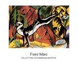 Kunstdruck / Poster Franz Marc - Drei Katzen - 90 x 70cm - Premiumqualität - MADE IN GERMANY - ART-GALERIE-SHOPde