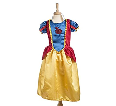 Costume de conte pour enfant Blanche-Neige 2 pièces robe et