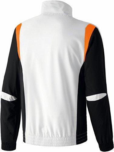 erima Erwachsene Anzug Premium One Präsentationsjacke Weiß/Schwarz/Neon Orange