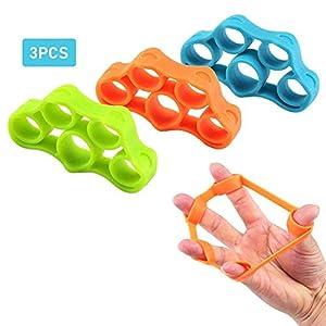 Premium Finger grip–Set de entrenamiento bola Escalada de entrenamiento de entrenamiento mano estrictos thener Exerciser Mango pelotas Finger stretcher silicona de Fortalecer la y antebrazos de 6Diferentes Niveles Obstrucción de 9pcs
