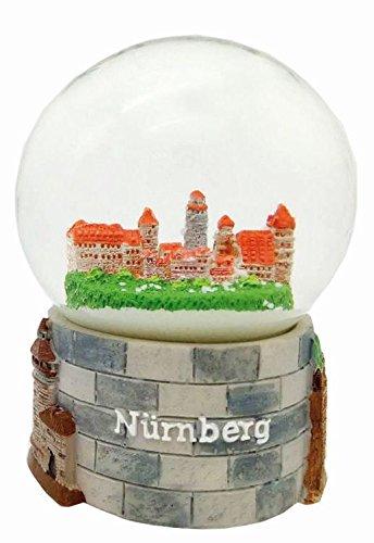 30058 Souvenir Schneekugel Nürnberg Kaiserburg Plärrer 65mm Durchmesser