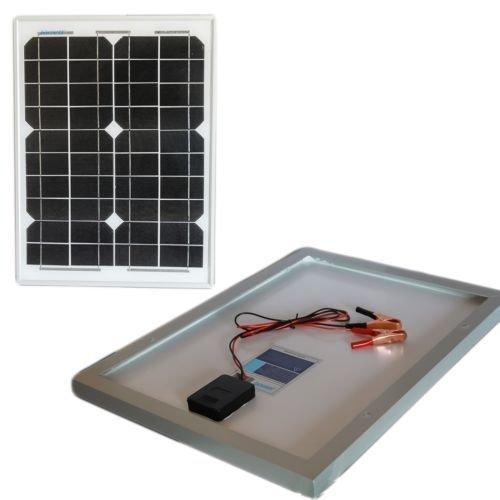 Pannello solare modulo fotovoltaico 30w 12v celle silicio pinze batteria camper