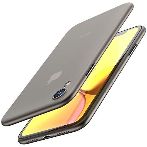 TOZO Funda para iPhone XR, 6,1 Inch (2018) PP [0,35mm] Ultra Delgada Más Fina del Mundo Proteger El Estuche Rígido [Semi Transparente] Ligero Protective Carcasa Case Cover [Negro Mate]