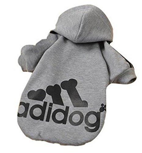 Bohai Pet Hundemantel-Jacke für Klein- und Mittelunter Hunde, Warm Padded Puffer, Brustschutz Harness (Hund Pullover Für Harness)