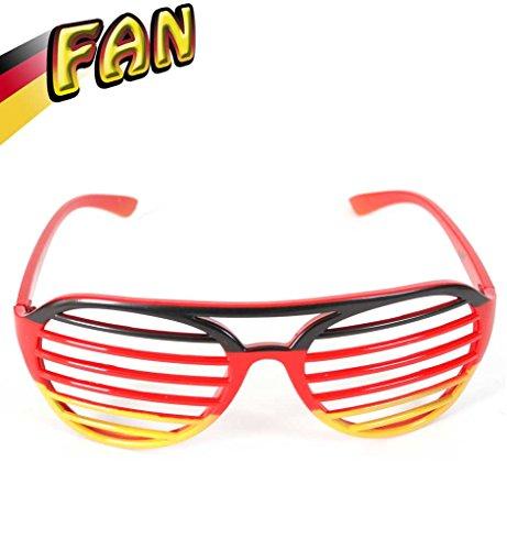FAN Gitterbrille, Deutschland, Fußball, WM, EM, schwarz-rot-gold, Accessoire