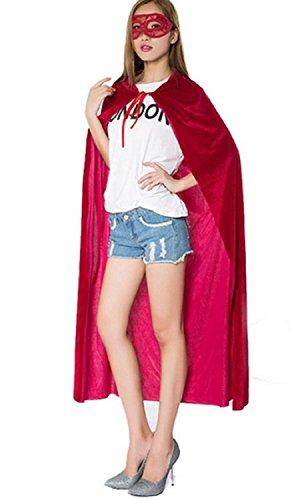 Inception Pro Infinite Kostüm-Umhang - Verkleidung - Karneval - Halloween - Teufel - Dämon - Sekte - Lang - Kapuze - Rot - Erwachsene - Unisex - Frau - Mann - Jungen