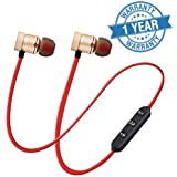 Lambent Magnetic Wireless Bluetooth Earphones Headset with Mic for Handsfree Calling for All Smartphone Devices