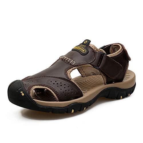 aire Libre Verano Zapatos de Cuero Casuales Zapatos de Playa de Estilo Romano Resbalón en pisos cerrados de pescador ()