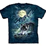 Photo de The Mountain Unisexe Adulte Loup Nuit Symphony T Shirt par The Mountain