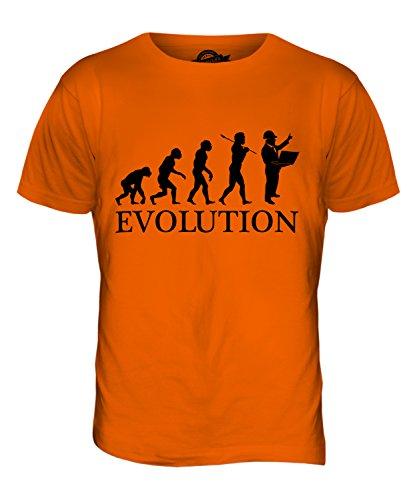 CandyMix Baumanagement Baustellenleiter Evolution Des Menschen Herren T Shirt Orange