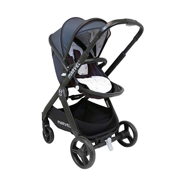 iSafe Marvel 2in1 Complete Pram System Pushchair and Carseat - Charcoal Black iSafe  4