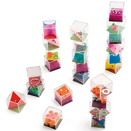Partituki Pack of 24 Fidget Toys for Children and Adults. Perfect as Party Gifts or Piñata Filling. Funny Puzzle Style Game Box.