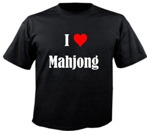 """T-Shirt """"I Love Mahjong"""" für Damen Herren und Kinder ... in der Farbe Schwarz Schwarz"""