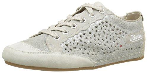 Rieker 57745 81, Baskets Basses femme Blanc (Ice/Fog/Silver/Grey/Champignon)