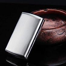 NACHEN Caja De Cigarrillos De Metal Ultra Delgadas Hombres Portátiles De Acero Inoxidable Impermeable Y Resistente