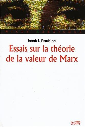 Essais sur la théorie de la valeur de Marx par Isaak I. Roubine