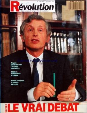 REVOLUTION [No 476] du 14/04/1989 - ELECTIONS - EUROPE PAR B. MARX - DEMOCRATIE PAR G. STREIFF - LANGUE FRANCAISE PAR A. JACQUARD - SCIENCES - NUCLEAIRE PAR S. HUET - SCIENCES - DE LA PHYSIQUE PAR COHEN-TANNOUDJI - CHAMBRES - MARIS - MARGES ET MAREES PAR F. SALVAING - NAMIBIE PAR BRECOURT - AMERIQUES - ETATS-UNIS PAR SOLBES - SOCIALISME - POLOGNE PAR DIMET - VIETNAM PAR N. KHAC VIEN - AMERIQUES - CHILI - DES COMMUNARDS A SANTA ARENAS PAR FENOY - DESARMEMENT PAR par Collectif