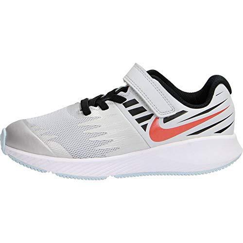 Nike Jungen Star Runner SD (PSV) Laufschuhe, Mehrfarbig (Pure Platinum/Team Orange-Black 001), 28 EU -