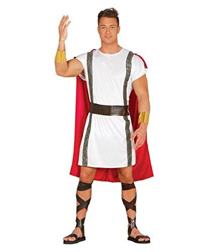 Rot-weißes Römer Kostüm für Fasching & Halloween (Sandalen Braun Römische Kostüm)