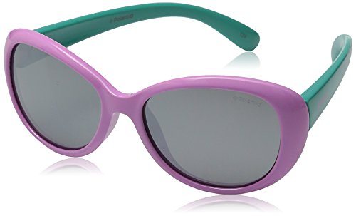 Polaroid Unisex-Kinder Pld 8004/S Jb T5F 48 Sonnenbrille, Türkis (Lilac Turqise/Grey),