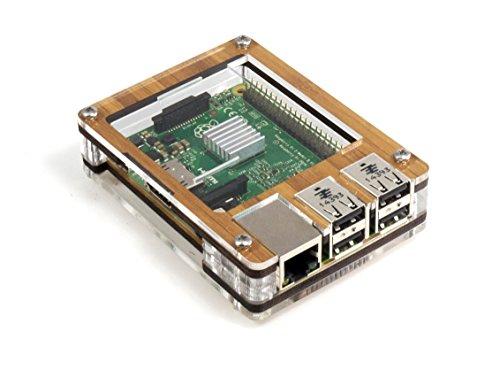 Zebra Case - Raspberry Pi B+ und 2B Gehäuse (Bambus)