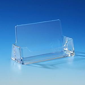 Taymar® Visitenkartenhalter im Querformat, DIN A8 (95×52mm), Transparent
