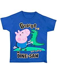 George The Pig Boys George Pig T-Shirt Ages 1 To 6 Years
