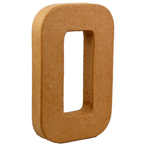 Country Love Crafts Pappmaché-Dekoelement 3D Buchstabe O 20,5cm Pappmaché -