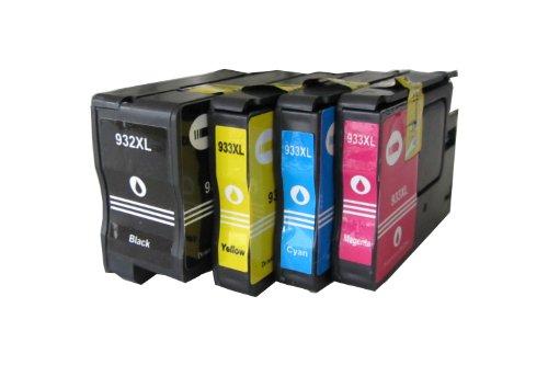 Preisvergleich Produktbild ESMOnline 4 komp. XL Druckerpatronen für HP 932BK 933C 933M 933Y