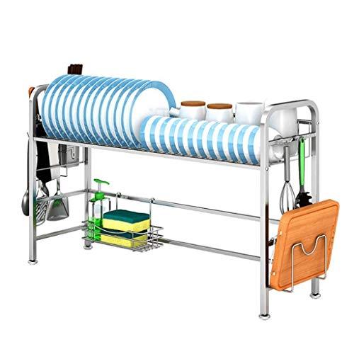Xue-Shelf Geschirrtrockner über Waschbecken, Abtropffläche Regal für Küchenbedarf Lagerung Zähler Veranstalter Utensilien Halter Edelstahl Display