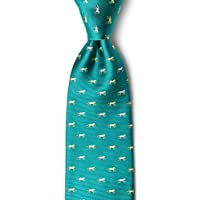 Hold Your Horses Turquoise Silk Tie