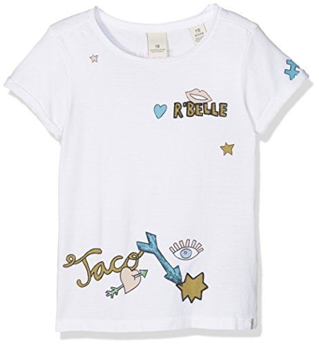 Scotch R'Belle Mädchen T-Shirt Tee with Placed Artworks