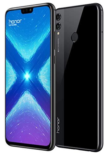 """HONOR 8X - Smartphone Pantalla 6,5"""" FHD+, 20MP+2MP y Frontal 16MP, 4GB + 64GB Memoria, Batería 3750 mAh, GPU Turbo, Negro, Versión Española"""