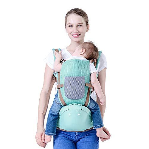 Babytrage mit Abnehmbarem Kapuze Ergonomische Kindertrage Bauchtrage Hüftsitz für Baby Rückentrage Babytrage 3 in 1 Kindertrage 20kg